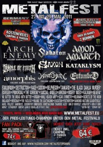 Flyer Metalfest 2011